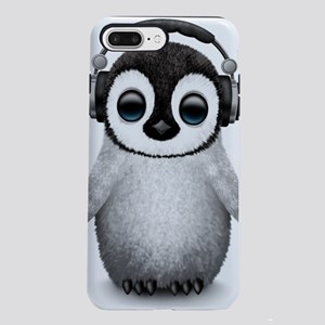 Baby Penguin Dj Wearing H iPhone 7 Plus Tough Case